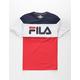 FILA Color Block Red, White, & Blue Boys T-Shirt