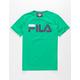 FILA Classic Logo Green Boys T-Shirt