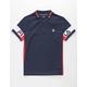 FILA Heritage Color Block Boys Polo Shirt