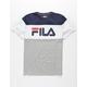 FILA Color Block Grey & Navy Boys T-Shirt