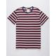 BIRCH BLACK Striped Mens T-Shirt
