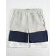 FILA Heritage Color Grey & Navy Block Boys Sweat Shorts
