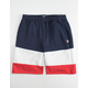 FILA Heritage Color Block Red, White, & Blue Boys Sweat Shorts