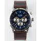 NIXON Freemont Chrono Brown Leather Watch