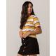 FULL TILT Essentials Stripe Mustard Womens Tee