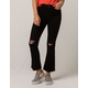 IVY & MAIN Kick Crop Womens Ripped Flare Jeans