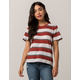 FULL TILT Essentials Stripe Rust Womens Tee