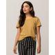 FULL TILT Essentials Stripe Gold Womens Tee