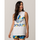 ADIDAS Trefoil Palm Leaf Womens Muscle Tank Top