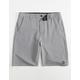 GROM Off Road Gray Boys Hybrid Shorts