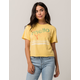 MIGHTY FINE Mello Yello Womens Crop Tee
