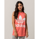 ADIDAS Trefoil Neon Pink & White Womens Muscle Tank Top