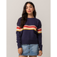 SKY AND SPARROW Chest Stripe Navy Womens Sweater