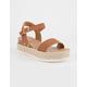 SODA Clip Tan Womens Espadrille Flatform Sandals