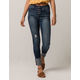 IVY & MAIN High Waisted Exposed Button Womens Skinny Jeans