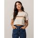 FULL TILT Stripe Crop Womens Sweatshirt Tee