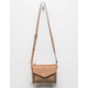 VIOLET RAY Leanna Perforated Cognac Crossbody Bag