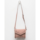 VIOLET RAY Leanna Whipstitch Mauve Crossbody Bag