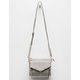 VIOLET RAY Leanna Perforated Light Gray Crossbody Bag
