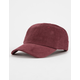 BLUE CROWN Corduroy Burgundy Strapback Hat