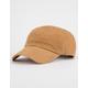 BLUE CROWN Corduroy Tan Strapback Hat