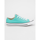 CONVERSE Chuck Taylor All Star Teal Low Top Womens Shoes