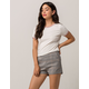 IVY & MAIN Plaid Womens Shorts