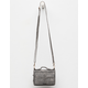 VIOLET RAY Peyton Whipstitch Gray Wallet Crossbody Bag