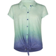 FULL TILT Ombre Burnout Tie Front Girls Shirt