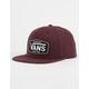 VANS Westgate Burgundy Mens Snapback Hat