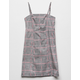 MIMI CHICA Plaid Girls Structured Dress