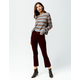 RSQ Sydney Crop Womens Flare Corduroy Pants