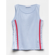 FULL TILT Side Stripe Light Blue Girls Tank Top