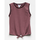 FULL TILT Athletic Tie Front Girls Tank Top