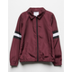 FULL TILT Stripe Burgundy Girls Coach Jacket