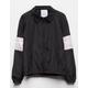 FULL TILT Stripe Black Girls Coach Jacket