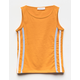 FULL TILT Side Stripe Mustard Girls Tank Top
