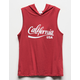 WHITE FAWN California Girls Hooded Tank Top
