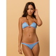DAMSEL Ribbed Color Block Cheeky Bikini Bottoms