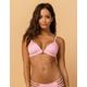 DAMSEL Ribbed Triangle Pink Bikini Top