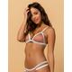 DAMSEL Ribbed Color Block Triangle Bikini Top