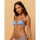 DAMSEL Ribbed Color Block Bikini Top
