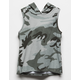 WHITE FAWN Camo Hooded Girls Tank