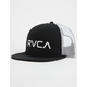 RVCA Foamy Black And White Mens Trucker Hat