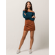SKY AND SPARROW Seamed Burnt Orange Corduroy Skirt