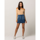 TINSELTOWN Seamed Denim Mini Skirt