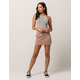 SKY AND SPARROW Corduroy Zip Front Pink Mini Skirt