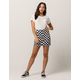 TINSELTOWN Checkerboard Seamed Mini Skirt