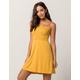 IVY & MAIN Smocked Solid Mustard Dress
