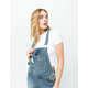 RSQ Roll Cuff Ripped Womens Denim Overalls